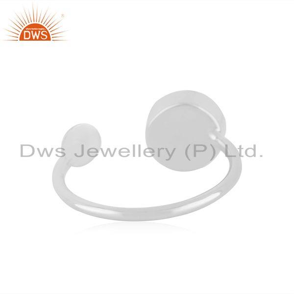 Suppliers 92.5 Sterling Silver Rose Chalcedony Gemstone Girls Promise Ring Wholesale