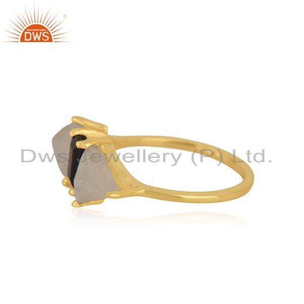 Suppliers Gold Plated Brass Fashion Multi Gemstone Ring Manufacturer in India