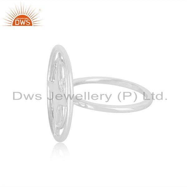 Suppliers Lucky Compass 92.5 Sterling Silver Unisex Ring Manufacturer in Jaipur