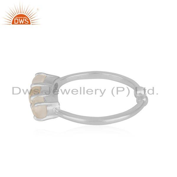 Suppliers Crystal Quartz Gemstone 925 Sterling Fine Silver Ring Wholesale Suppliers