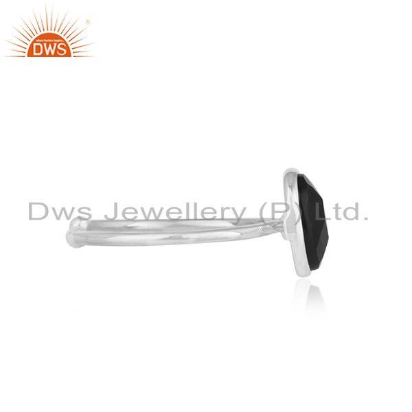 Suppliers Black Onyx Gemstone Fine Sterling Silver Handmade Ring Manufacturer India