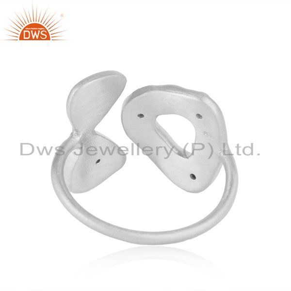 Supplier of White Zircon Fine 925 Sterling Silver Designer Ring Manufacturer in India