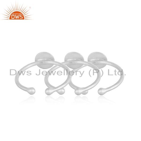 Suppliers Indian 925 Sterling Fine Silver Designer Girls 3 Rings Set Jewelry