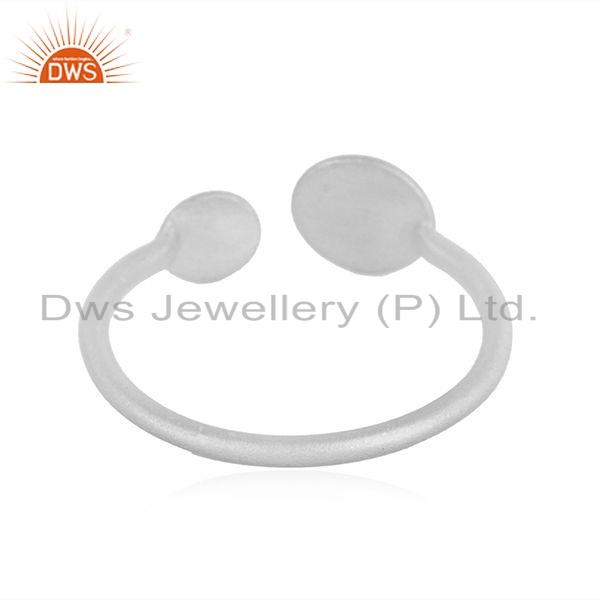 Suppliers Sterling Fine Plain Silver Designer Girls Fashion Ring Jewelry