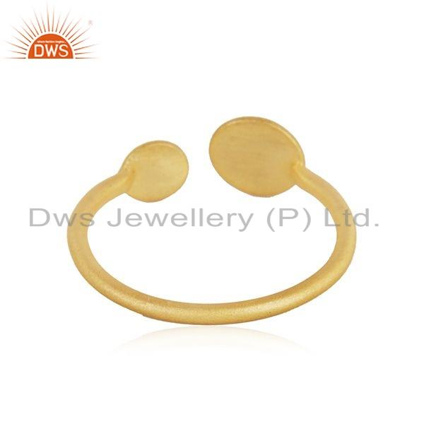 Suppliers Handamde Designer 18k Yellow Gold Plated Silver Fashion Ring Jewelry