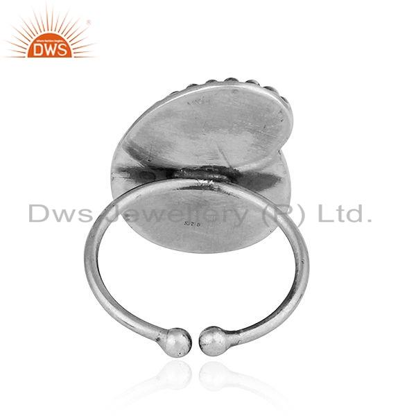 Suppliers New Antique Oxidized Plain Silver Designer Tribal Ring Jewelry