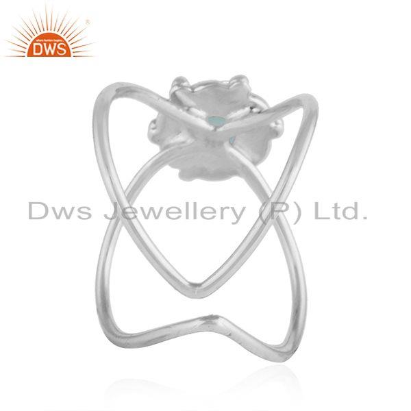 Suppliers Apatite Gemstone Designer Oxidized 92.5 Sterling Silver Ring Jewelry