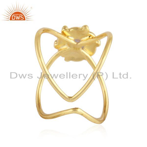 Suppliers Ethiopian Opal Gemstone Gold Plated Designer 92.5 Silver Ring Jewelry