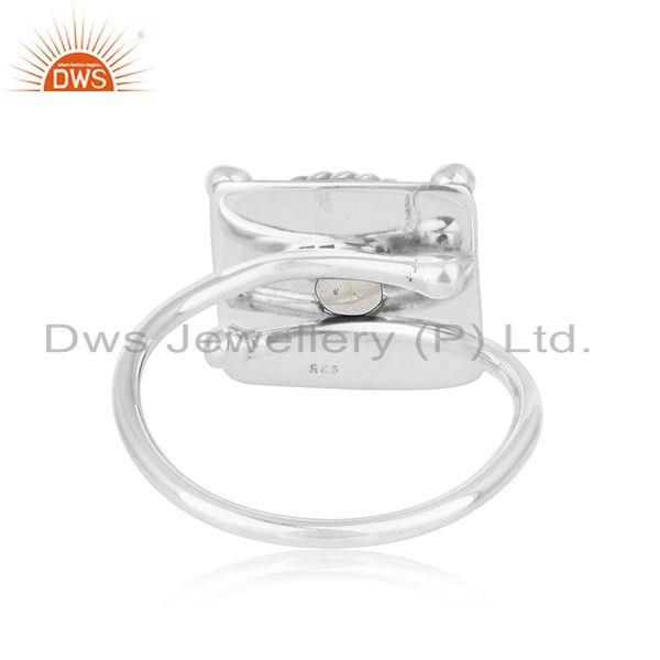 Suppliers Crystal Quartz Gemstone Oxidized Designer Sterling Silver Ring Jewelry