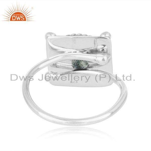 Suppliers Green Tourmaline New Look 925 Sterling Silver Oxidized Ring Jewelry