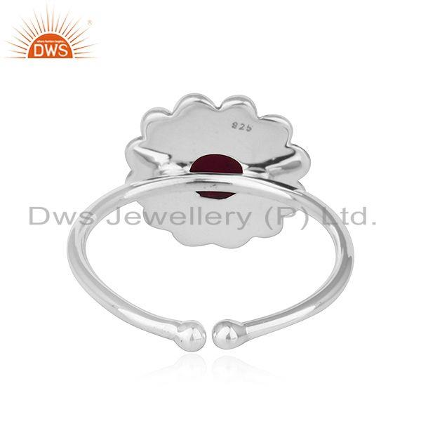 Suppliers Natural Ruby Gemstone New look Antique Oxidized Plated Silver Rings