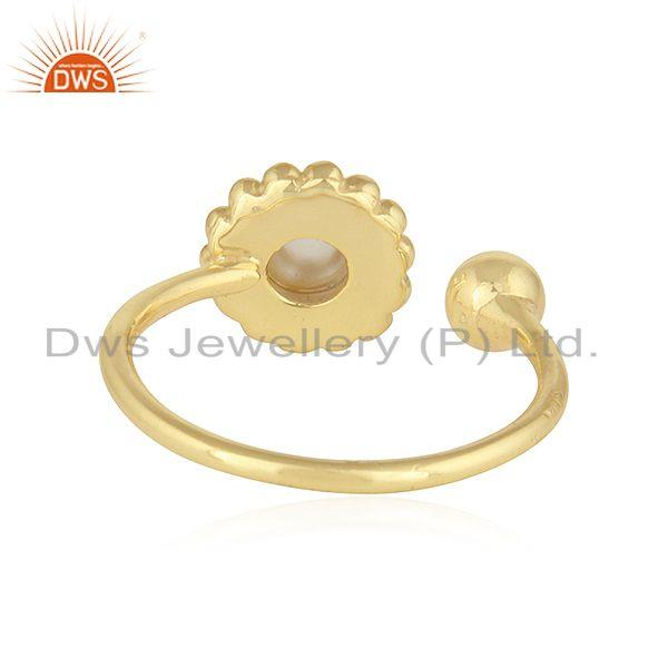 Suppliers Designer Gold Plated Adjustable 925 Silver Crystal Quartz Rings