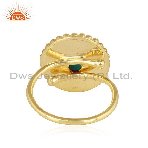Designer of Arizona turquoise gold plated designer 925 silver womens rings jewelry