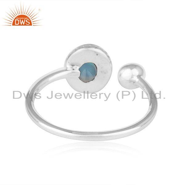 Suppliers Ethiopian Opal Oxidized Plated Antique 92.5 Silver Designer Rings