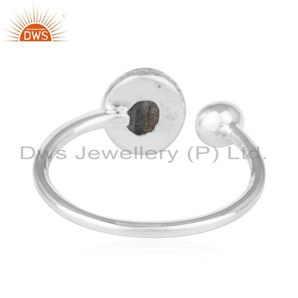 Suppliers New Look Sterling Silver Oxidized Finish Labradorite Gemstone Rings