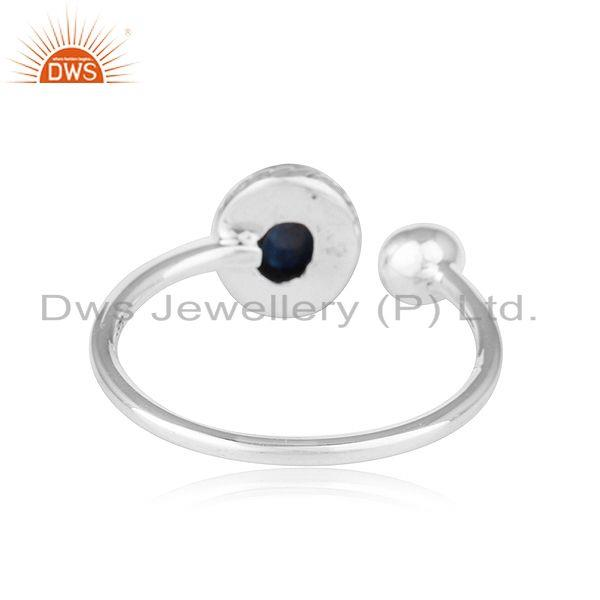Suppliers Natural Lapis Lazuli Gemstone Antique Sterling Silver Oxidized Rings