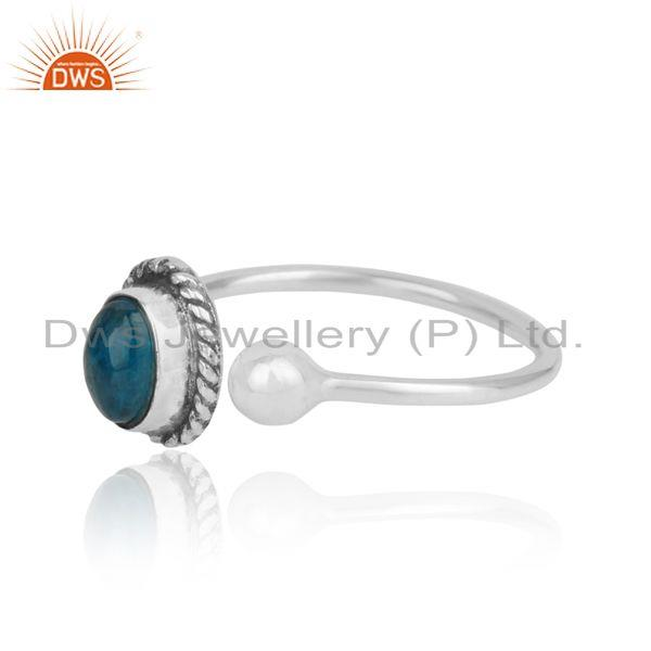 Designer of Designer oxidized on silver 925 with neon apatite womens rings