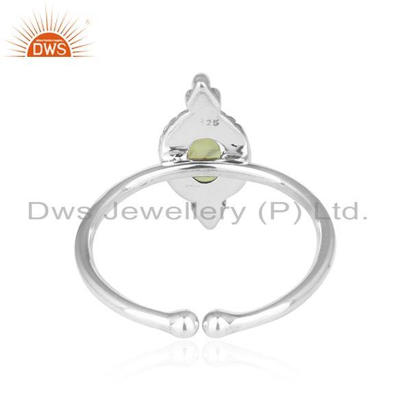 Suppliers Peridot Gemstone Antique Design 92.5 Sterling Silver Ring Jewelry