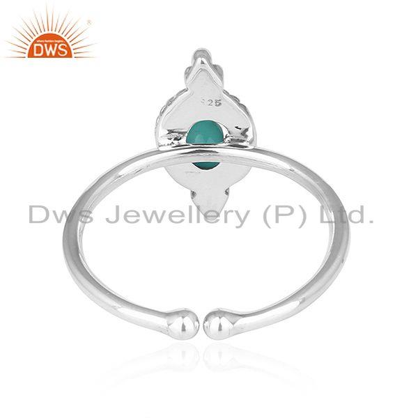 Suppliers Arizona Turquoise Gemstone Oxidized Sterling Silver Ring Jewelry