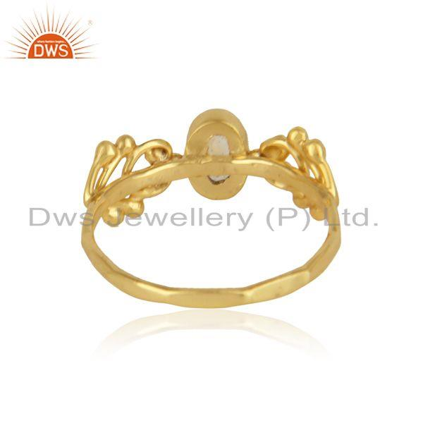 Designer of Designer gemstone ring in yellow gold on silver 925 and citrine