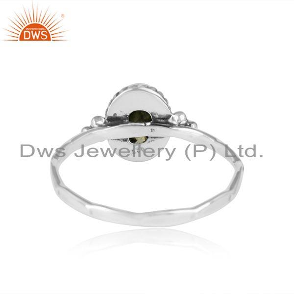 Designer of Peridot gemstone designer oxidized 925 sterling silver ring jewelry