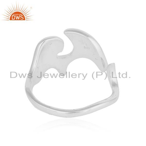 Suppliers 925 Fine Sterling Silver Elephant Shape Womens Ring Jewelry