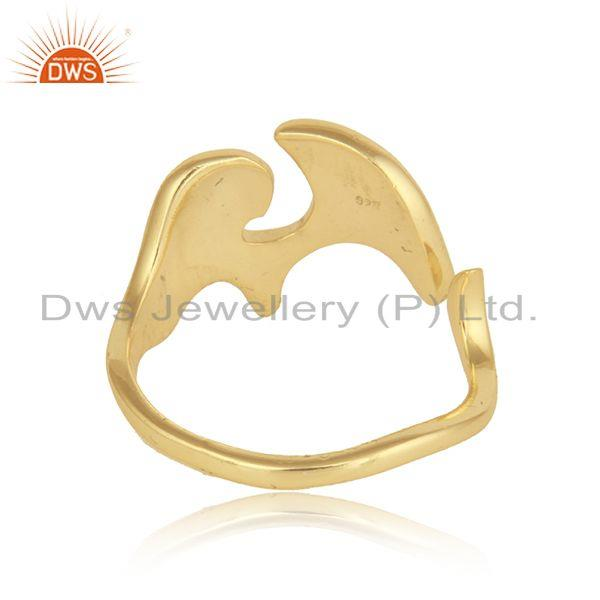 Suppliers Gold Plated 92.5 Silver Enchanting Elephant Design Ring Jewelry