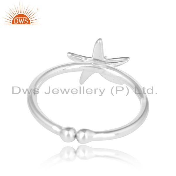 Designer of Star fish design 925 sterling fine plain silver ring jewelry