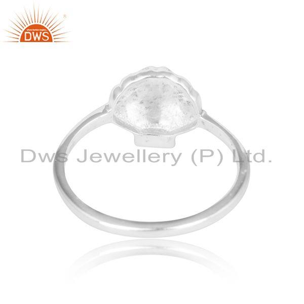 Designer of 925 plain silver shell design sterling fine silver ring jewelry