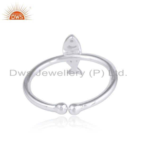 Designer of 925 sterling fine silver fish designer womens plain silver ring