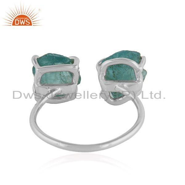Suppliers Natural Apatite Gemstone Designer Sterling Fine Silver Rings