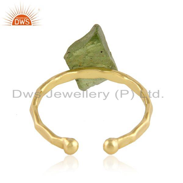 Suppliers Handmade Gold Plated Designer 925 Silver Peridot Gemstone Rings