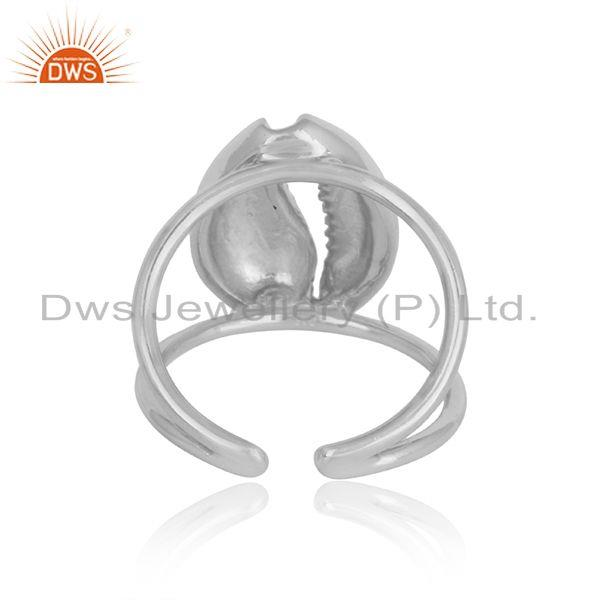 Designer of Amazing cowrie ring with splited shank in silver 925