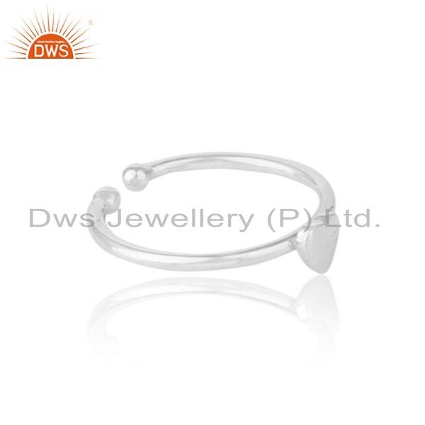 Designer of Handmade dainty heart stackable ring in solid silver 925