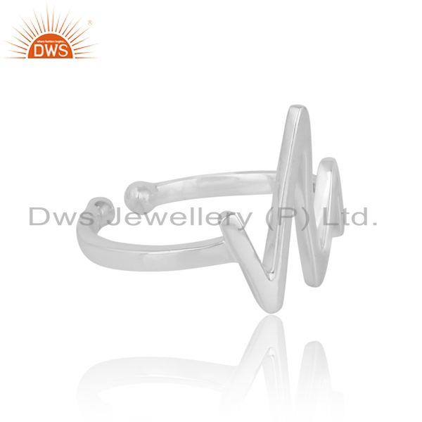 Designer of Dainty designer vibration midi ring in silver 925