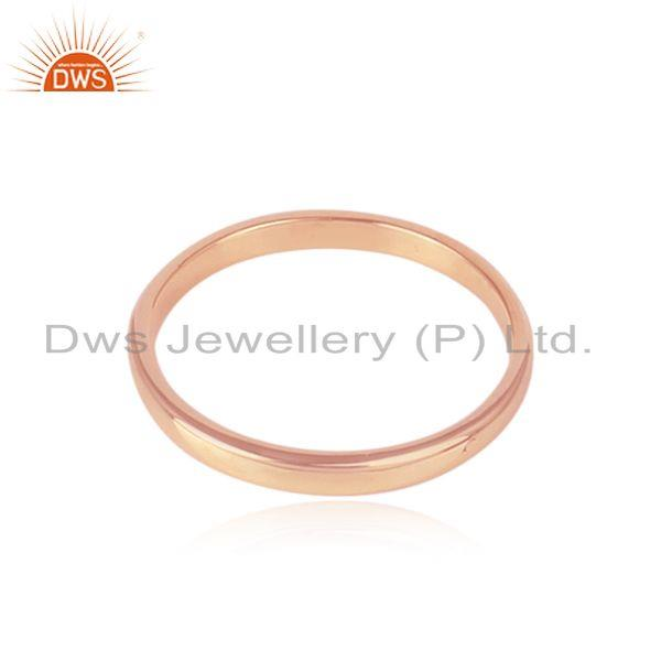 Designer of Classic plain band ring in rose gold on silver 925