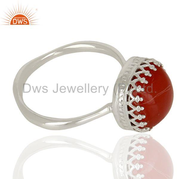 Suppliers Carnelian Gemstone Ring 925 Sterling Fine Silver Engagement Ring