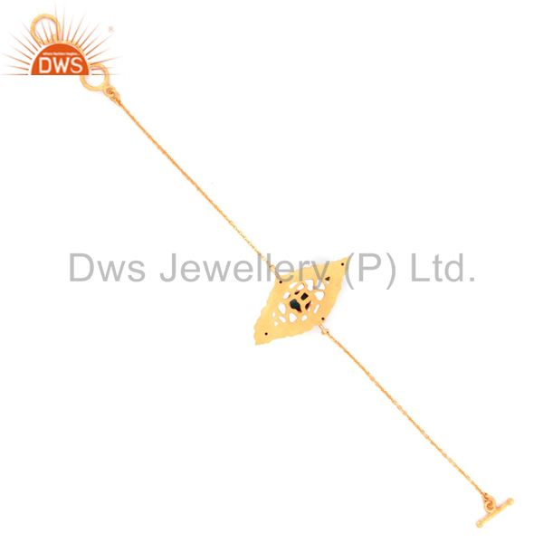 Suppliers Turquoise Jewelry 925 Sterling Silver 18k Gold GP Charm Gift Fashion Chain Brace