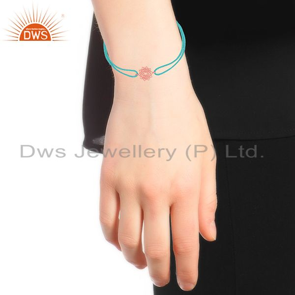 Suppliers Star Charm Rose Gold Plated Sterling Plain Silver Bracelet Wholesale