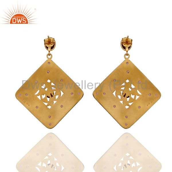 Suppliers Indian Ethnic Crystal Quartz Drop Earrings Bridal Party Sterling Silver Jewelry
