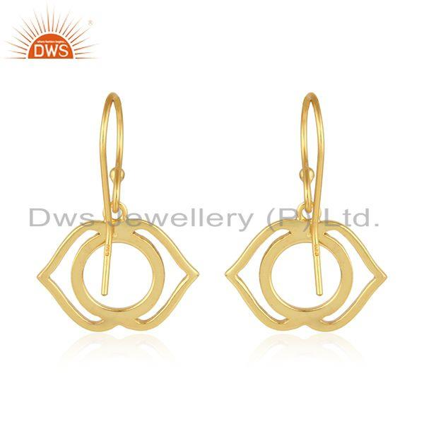 Suppliers Yellow Gold Plated Designer Ajna Chakra Womens Silver Earrings