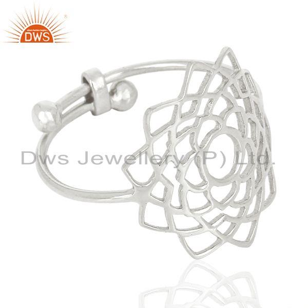 Suppliers Fligree Design Fine Sterling 92.5 Silver Customized Ring Manufacturer in India