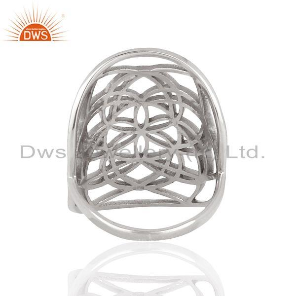 Suppliers Customized 925 Sterling Fine Silver Cocktail Ring Manufacturer in Jaipur