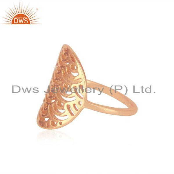 Suppliers Rose Gold Plated Sterling Silver Designer Ring For Womens Jewelry