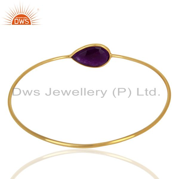 Wholesalers of Aventurine gemstone gold plated silver bangle jewelry supplier