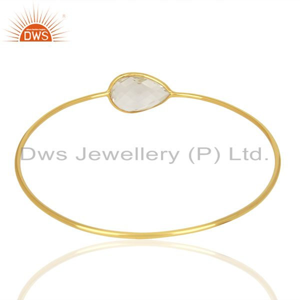 Wholesalers of Handmade gold plated 925 silver crystal quartz gemstone bangles