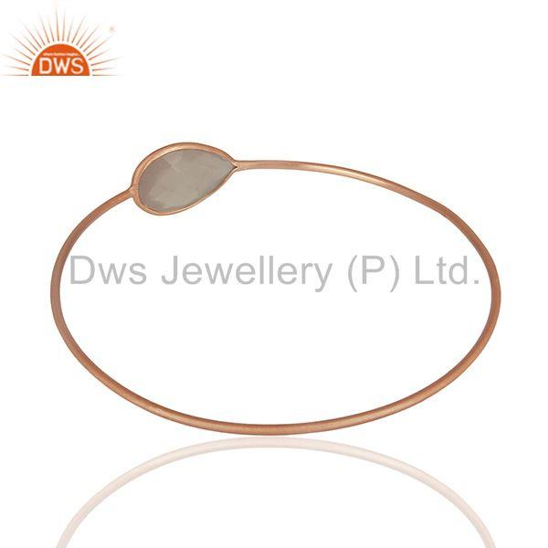 Wholesalers of Rose gold plated 925 silver crystal bangle jewelry manufacturers