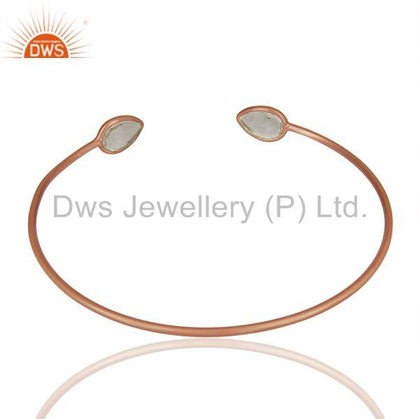 Suppliers Rose Gold Plated 925 Sterling Silver Cuff Bracelet Manufacturer