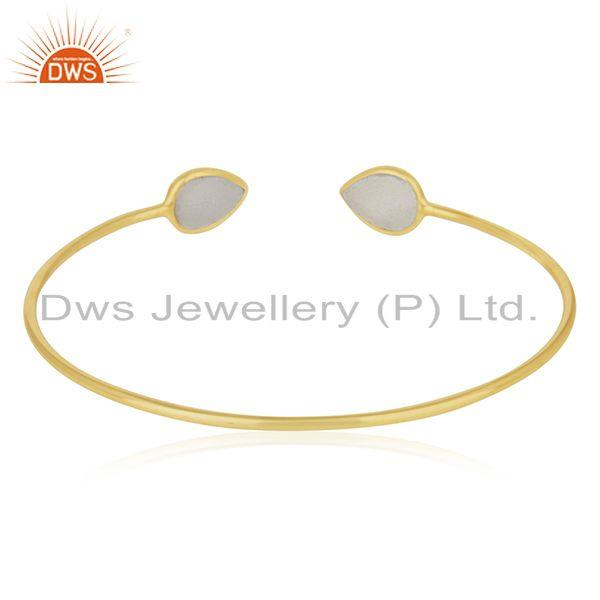 Suppliers 18k Gold Plated 925 Sterling Silver Cuff Bracelet Manufacturers