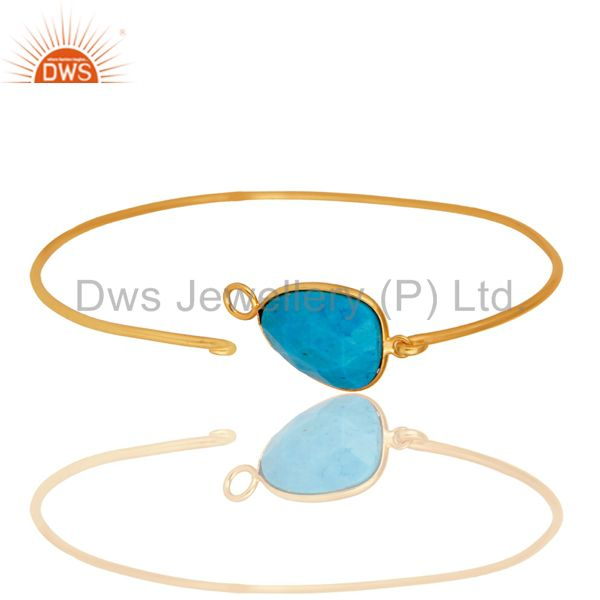Wholesalers of Turquoise matrix sterling silver gold over handmade openable bangle